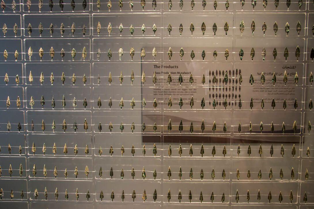 Eksponaty w muzeum Saruq Al-Hadid w Dubaju