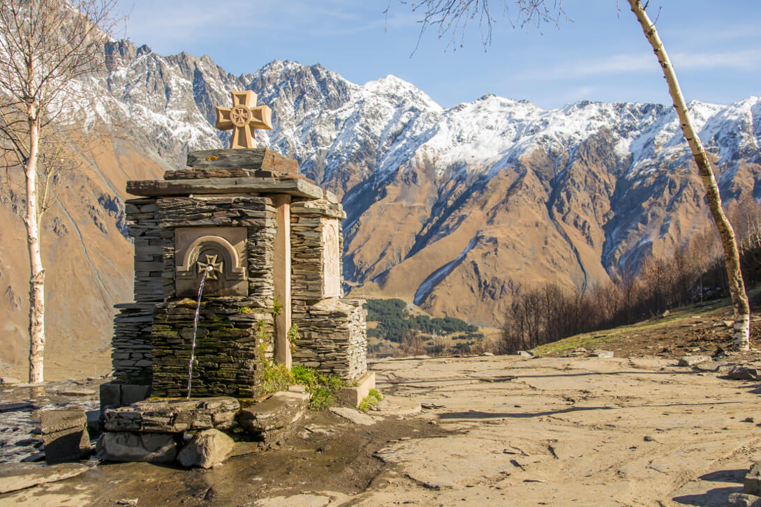 Widok z klasztoru Cminda Sameba
