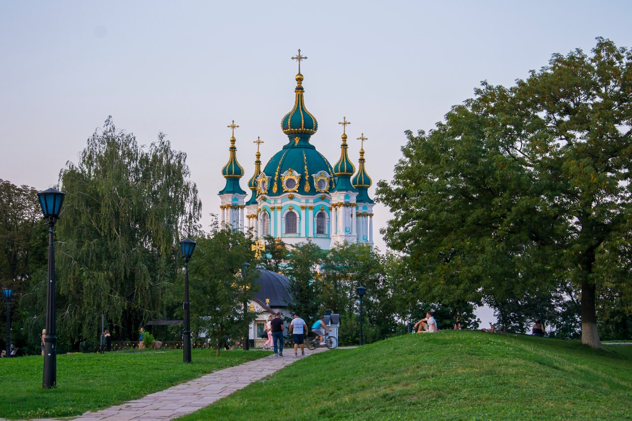 Zwiedzanie Kijowa - Cerkiew św. Andrzeja w Kijowie