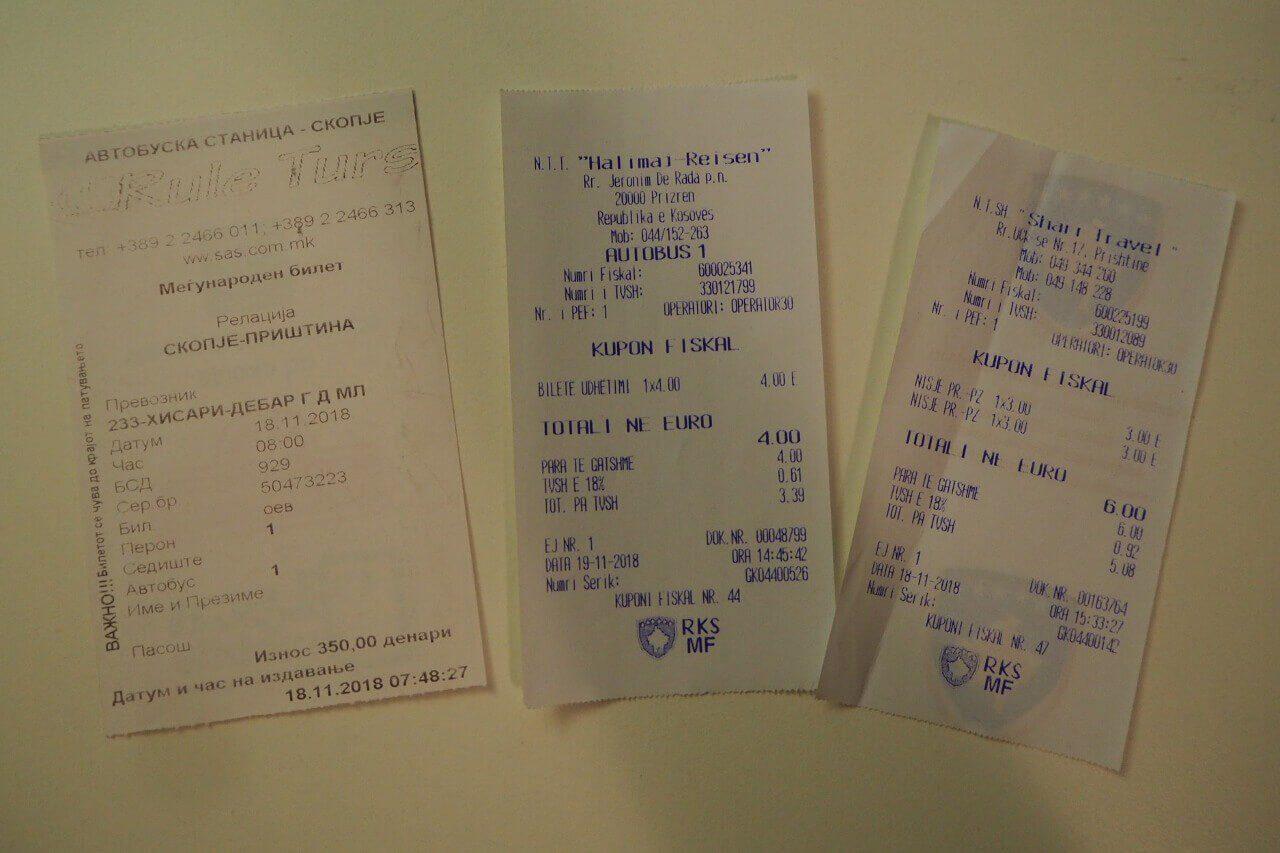 Bilety na autobus Skopje - Prisztina (dojazd do Kosowa) i Prisztina - Prizren