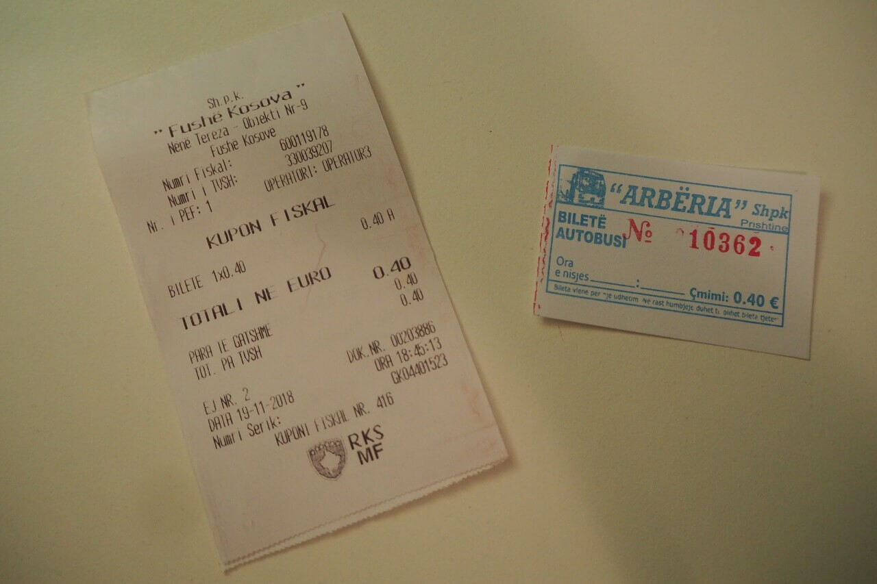 Bilety na komunikację miejską w Prisztinie