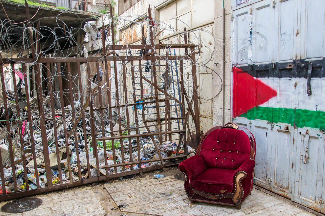 Widok na strefę buforową w Hebronie.
