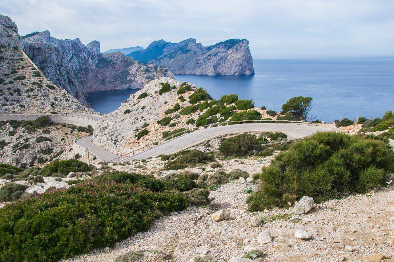 Widok na Cap de Formentor na Majorce