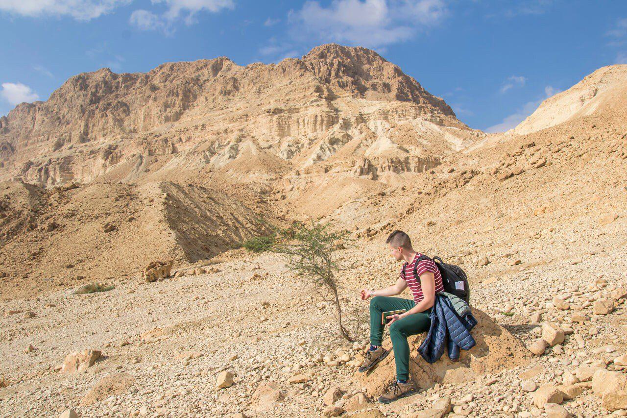 Widok na szczyty Wyżyny Judzkiej w Ein Gedi.