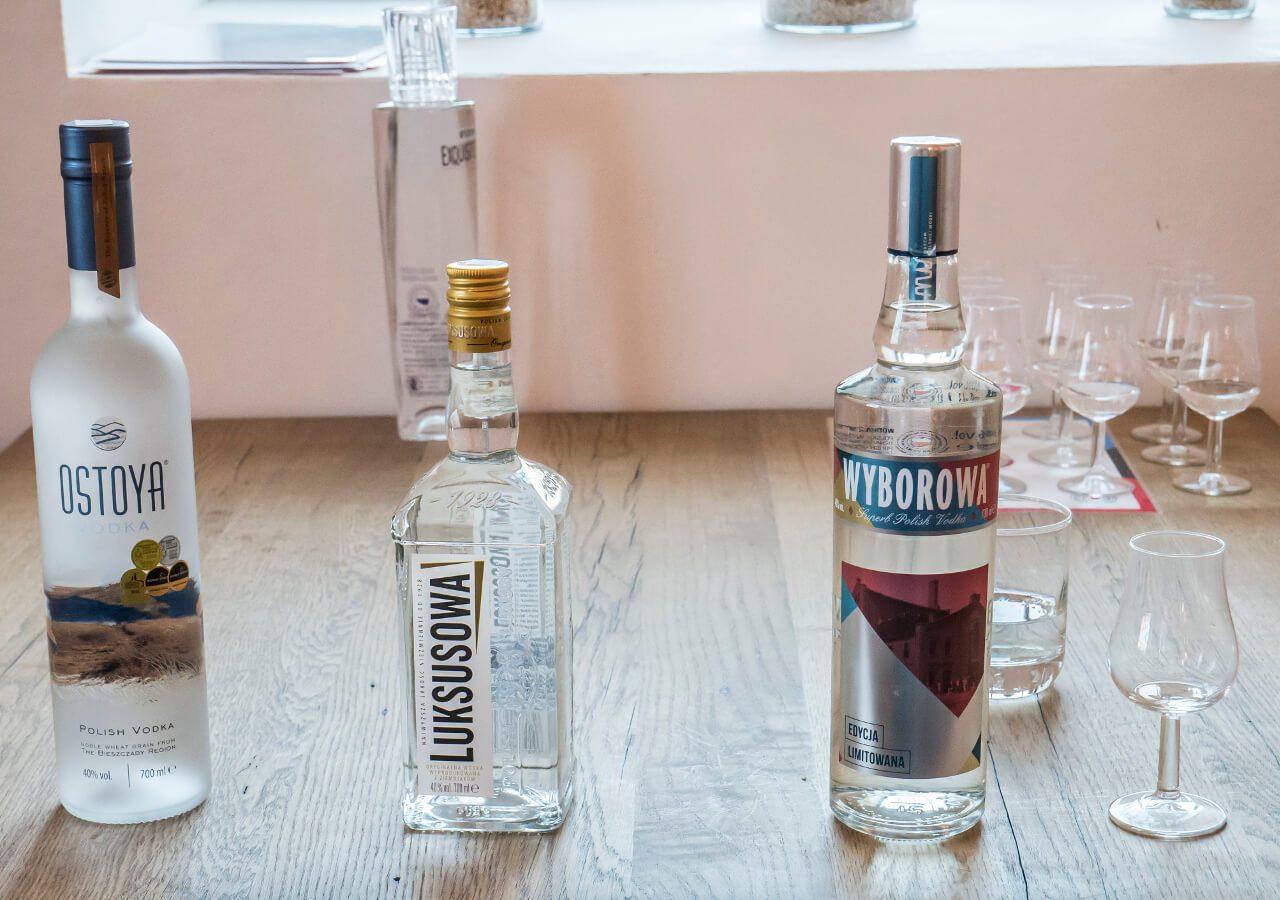 Wódka Wyborowa, Luksusowa i Ostoya podczas degustacji w Muzeum Polskiej Wódki