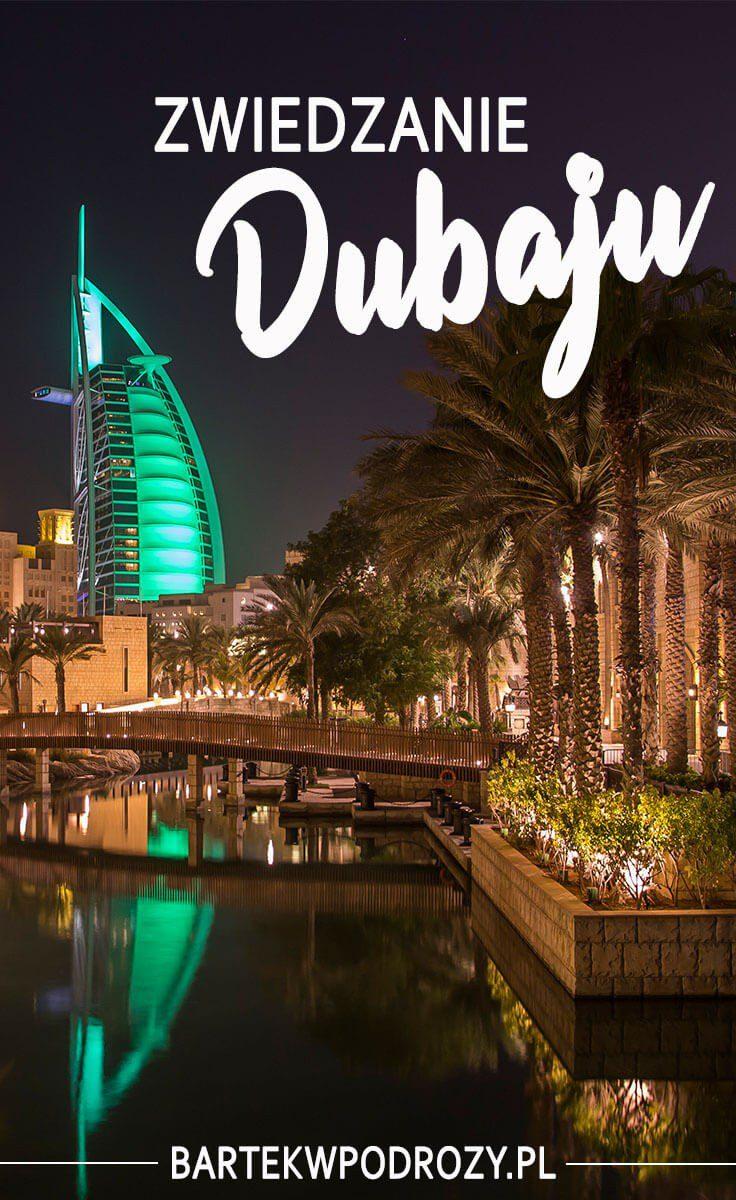 Pin artykułu o zwiedzaniu Dubaju (Pinterest)