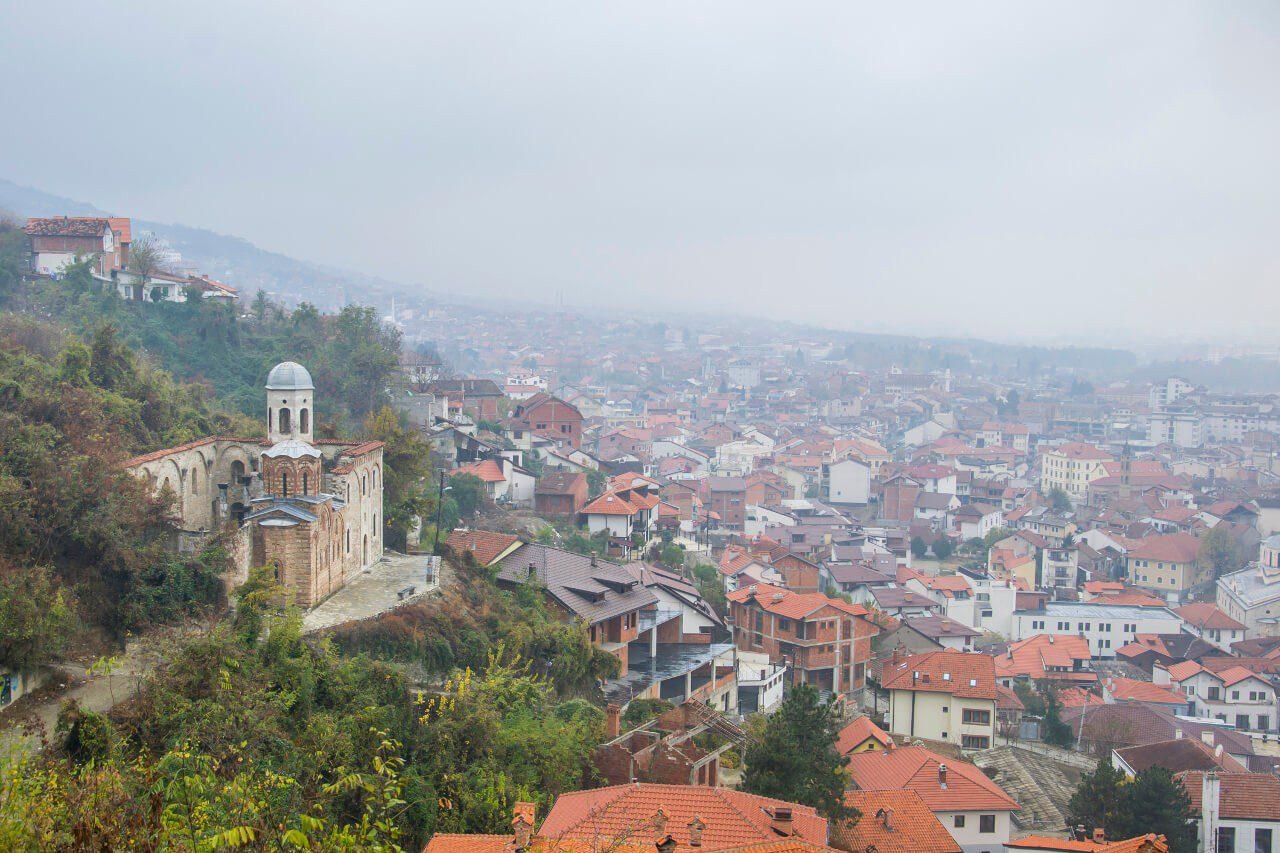 Widok z twierdzy Kalaja w Prizren