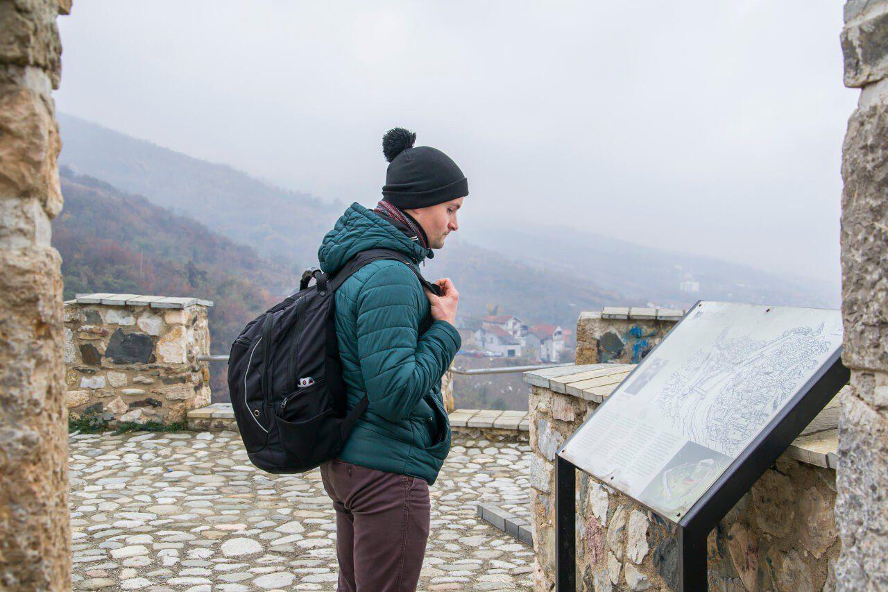 Bartek na twierdzy Kalaja w Prizren