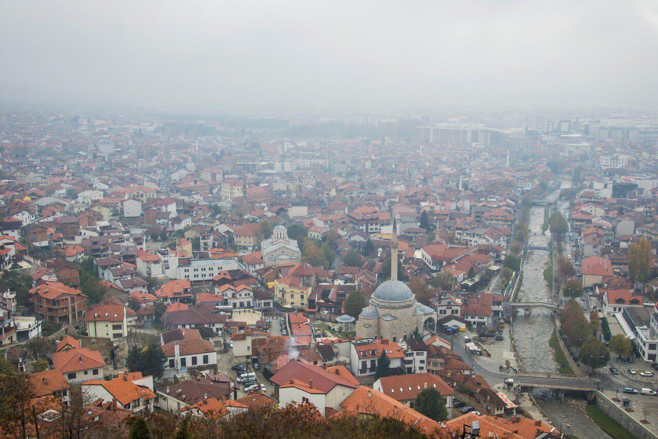 Widok na Prizren z twierdzy Kalaja