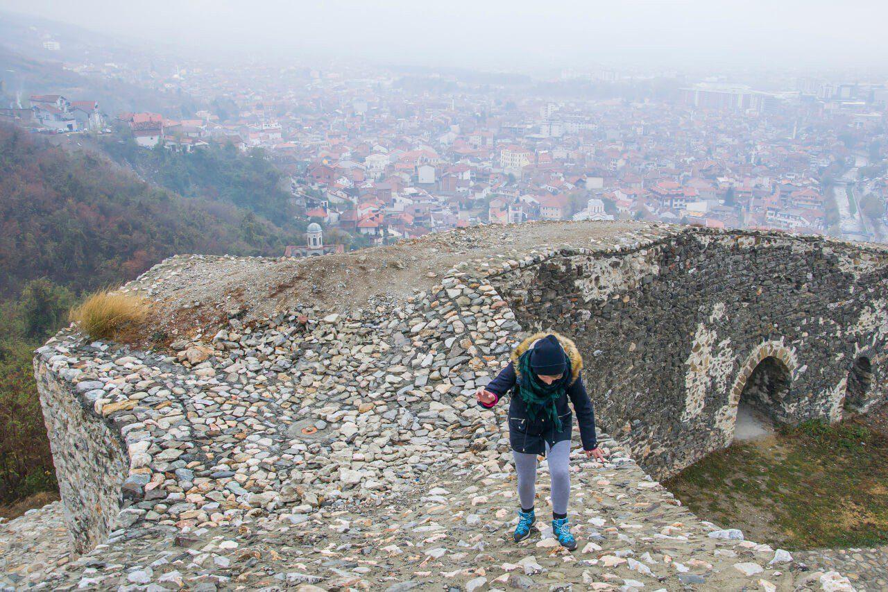 Natalia na twierdzy Kalaja w Prizren