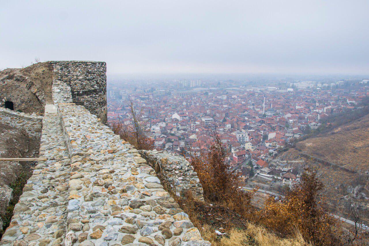 Panorama Prizren z twierdzy