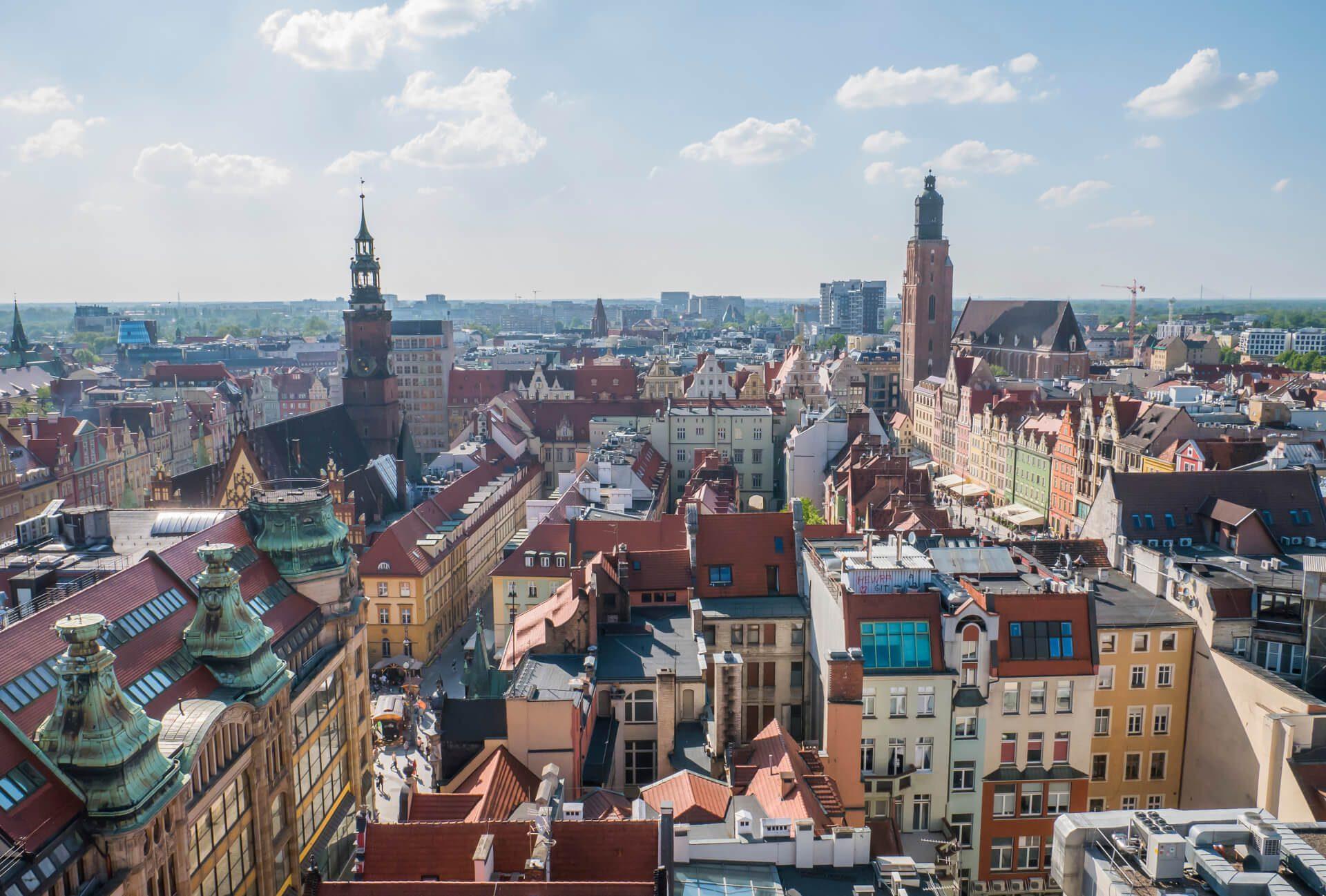 Wrocław w jeden dzień - widok na wrocławski Rynek z Mostku Pokutnic