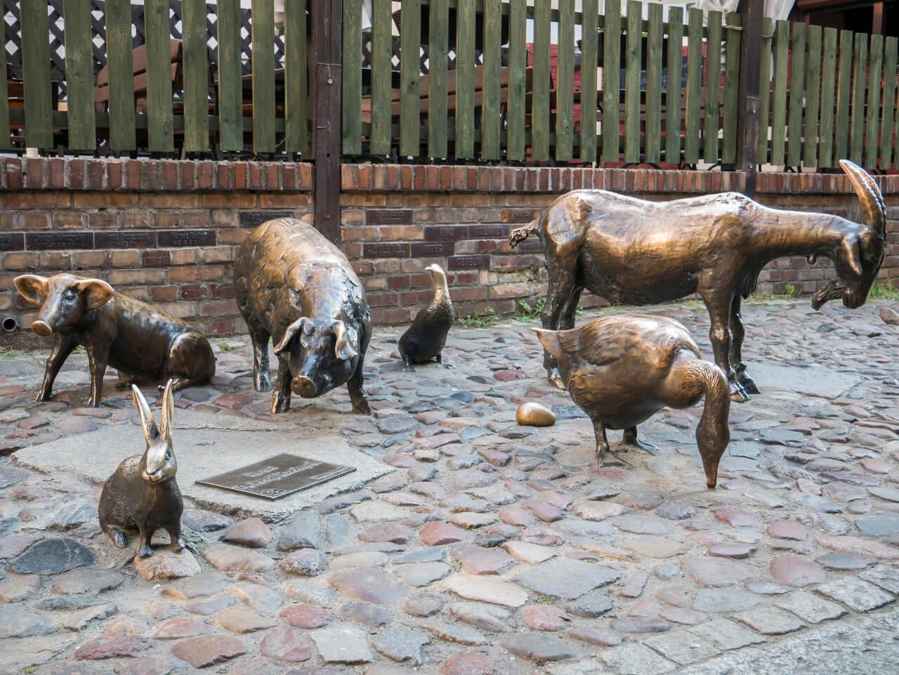 Pomnik ku czci zwierząt hodowlanych przy ul. Jatki