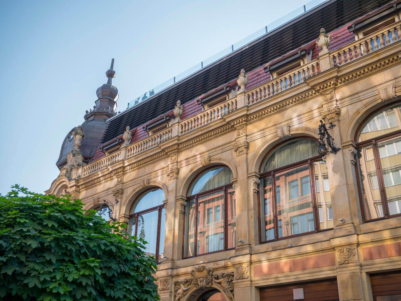 Fasada Hotelu Monopol we Wrocławiu