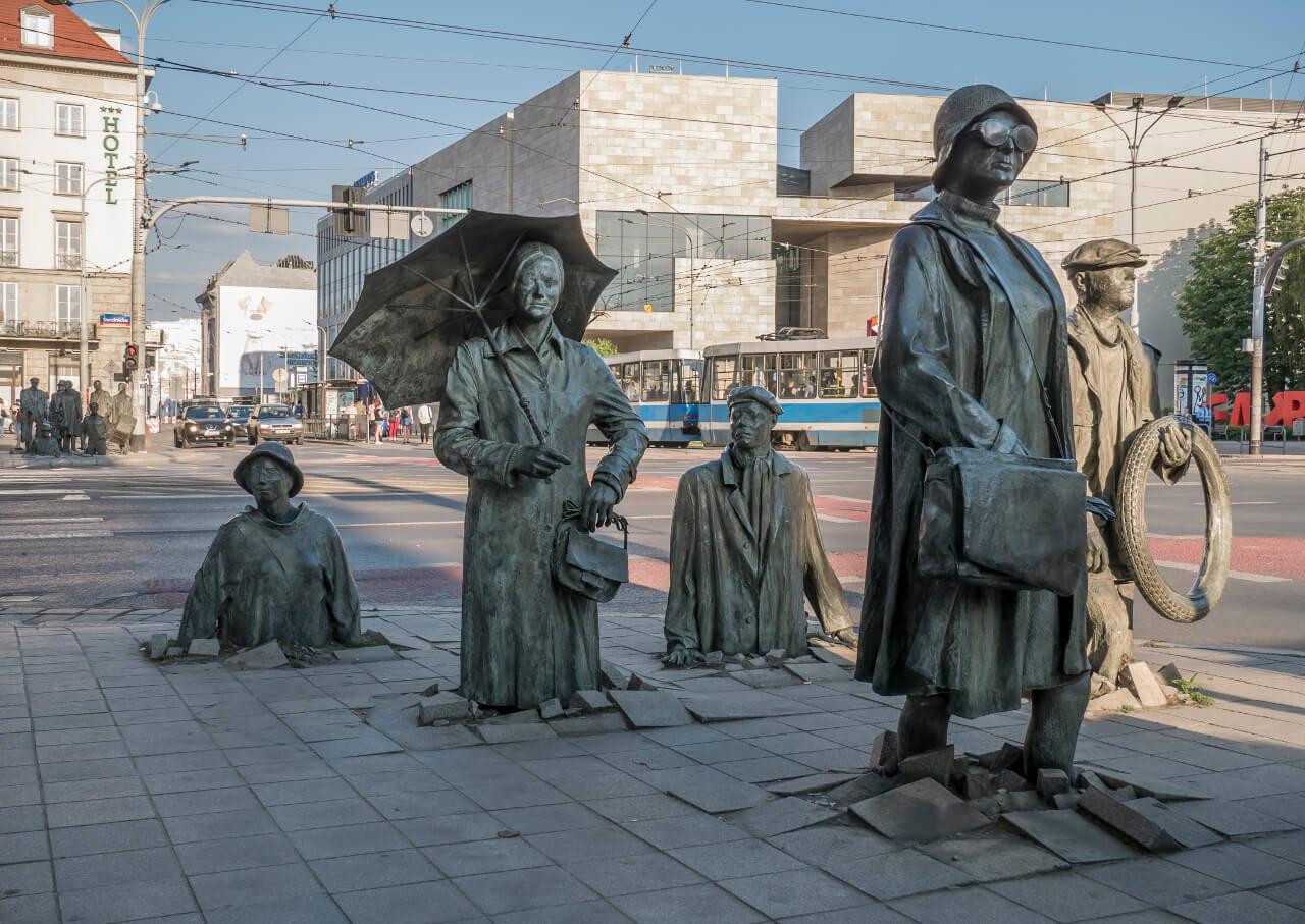 Wrocław w jeden dzień - Pomnik Anonimowego Przechodnia we Wrocławiu