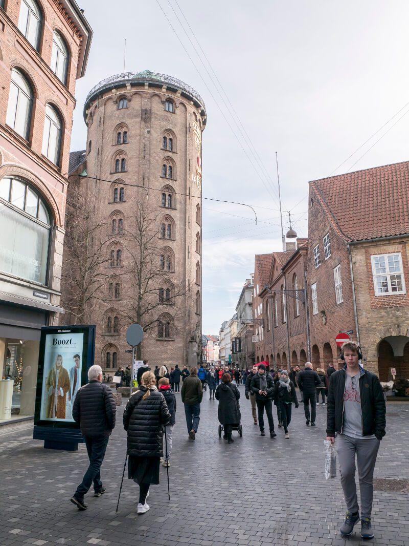 The Round Tower z poziomu ulicy