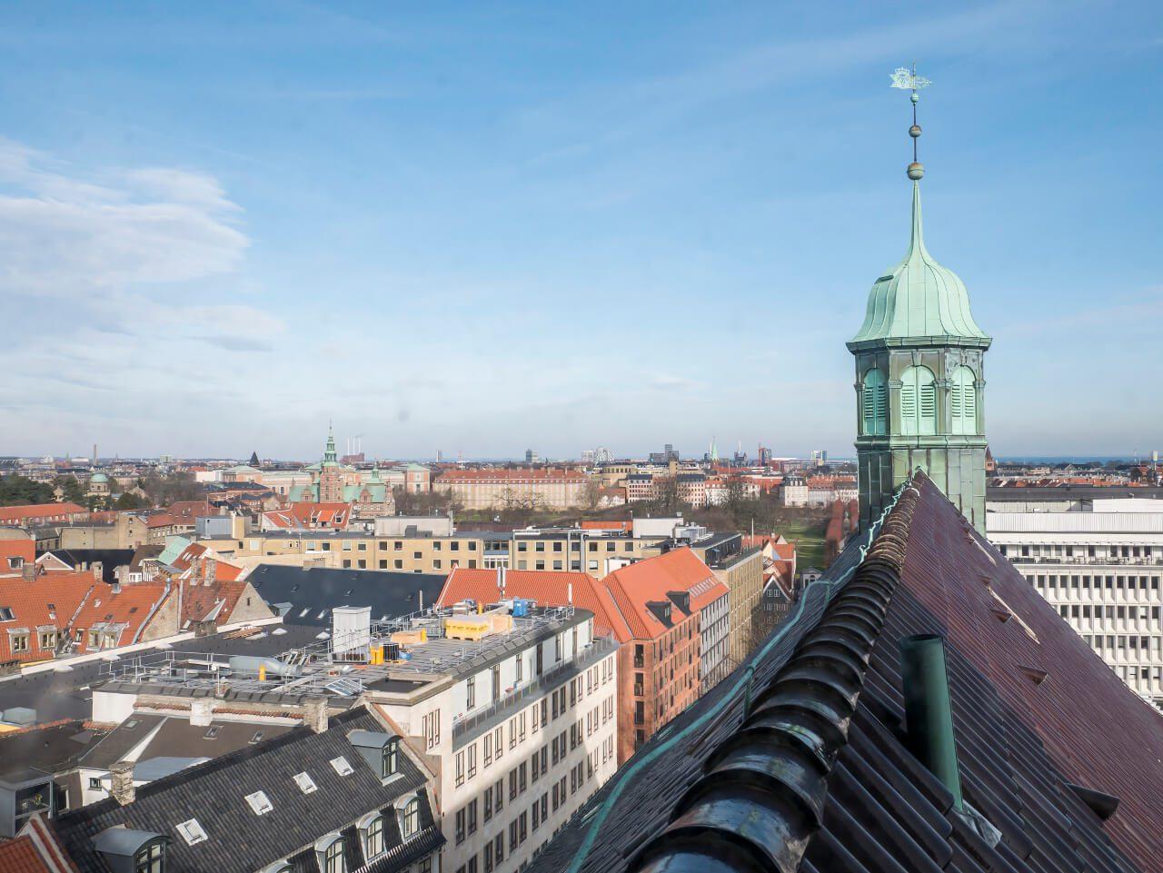 Widok z punktu widokowego na Kopenhagę