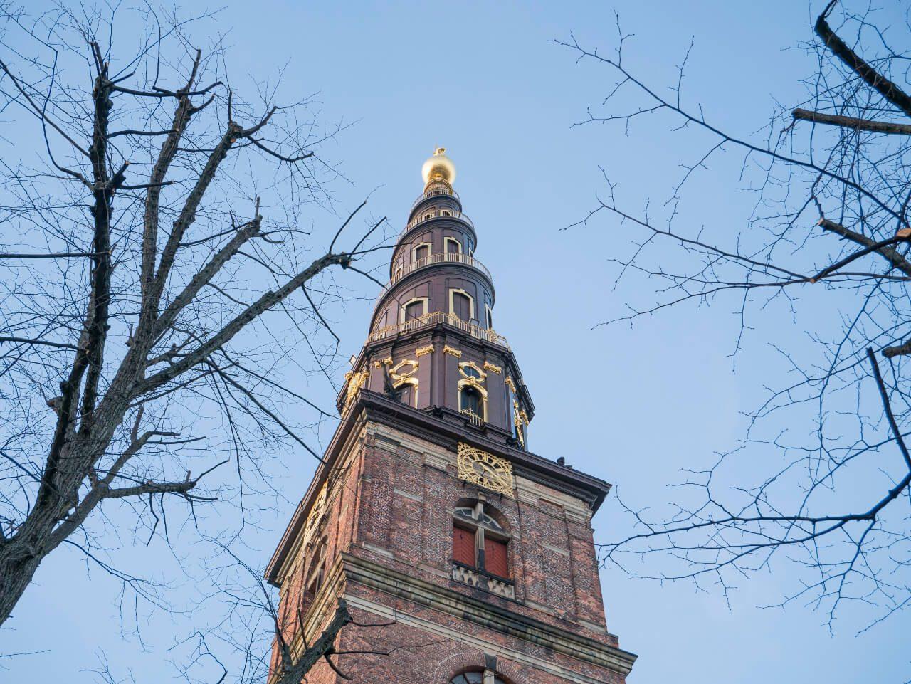 Zwiedzanie Kopenhagi - wieża kościoła Najświętszego Zbawiciela
