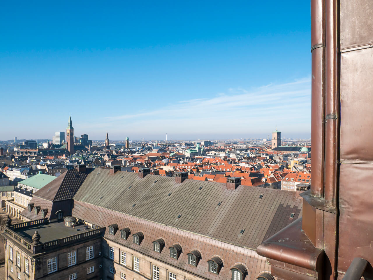 Widok na Kopenhagę z punktu widokowego