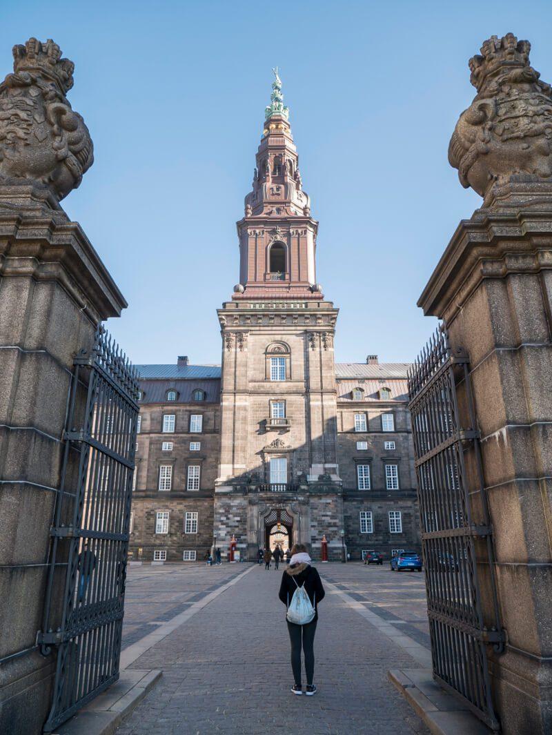 Wieża widokowa pałacu Christiansborg w Kopenhadze