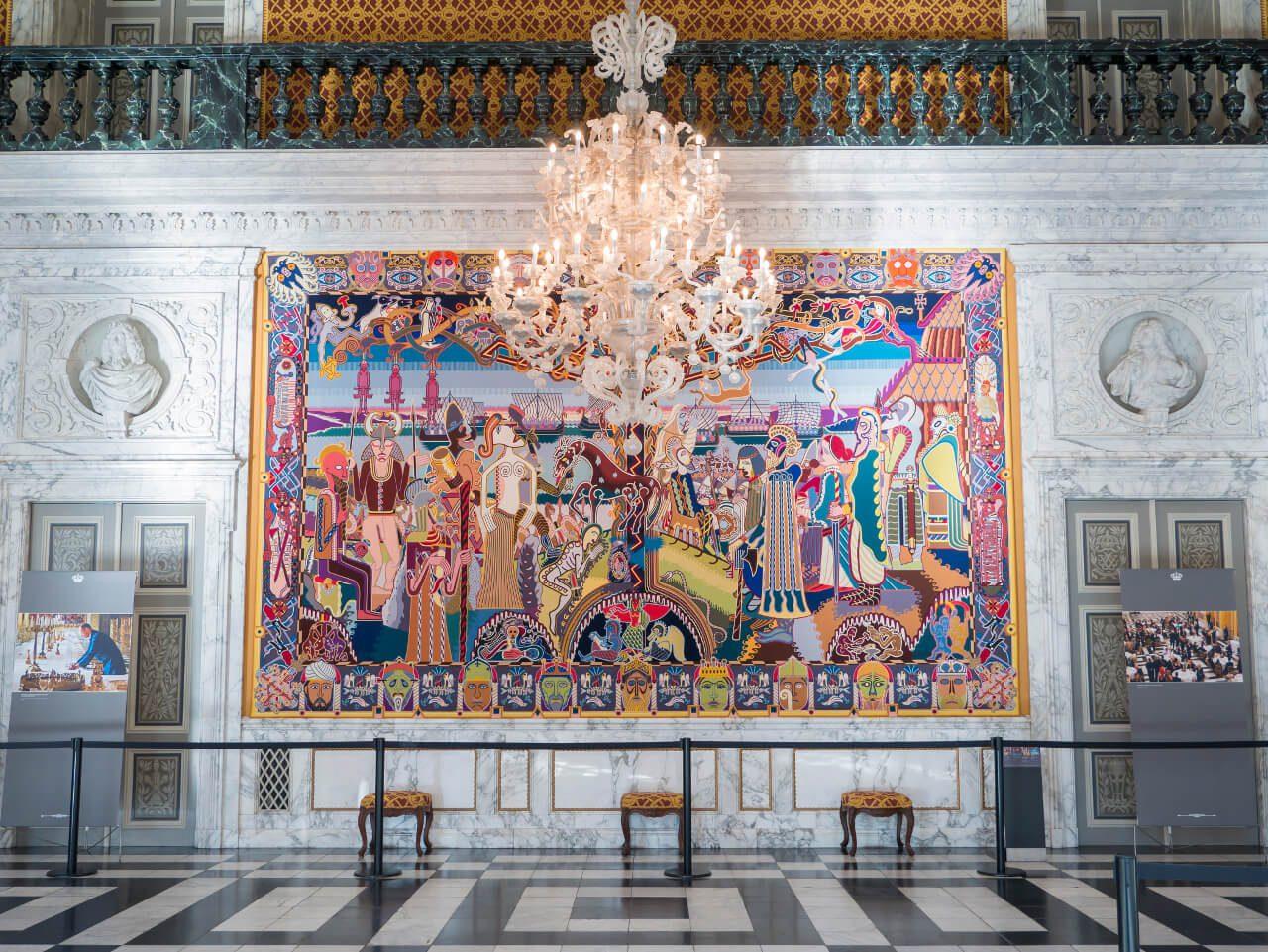 Wnętrze komnat królewskich w pałacu Christiansborg