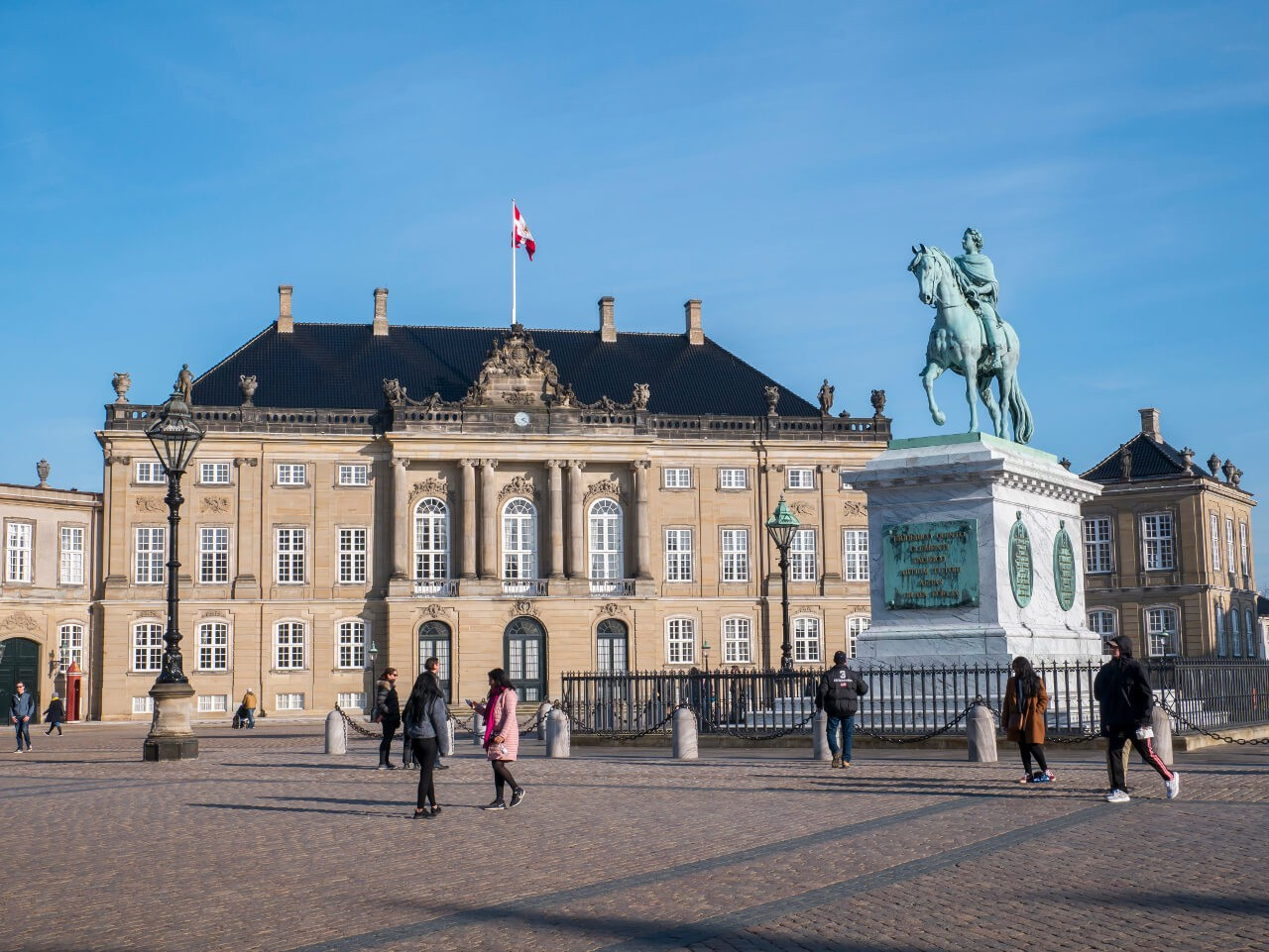 Jeden z czterech pałaców kompleksu Amalienborg