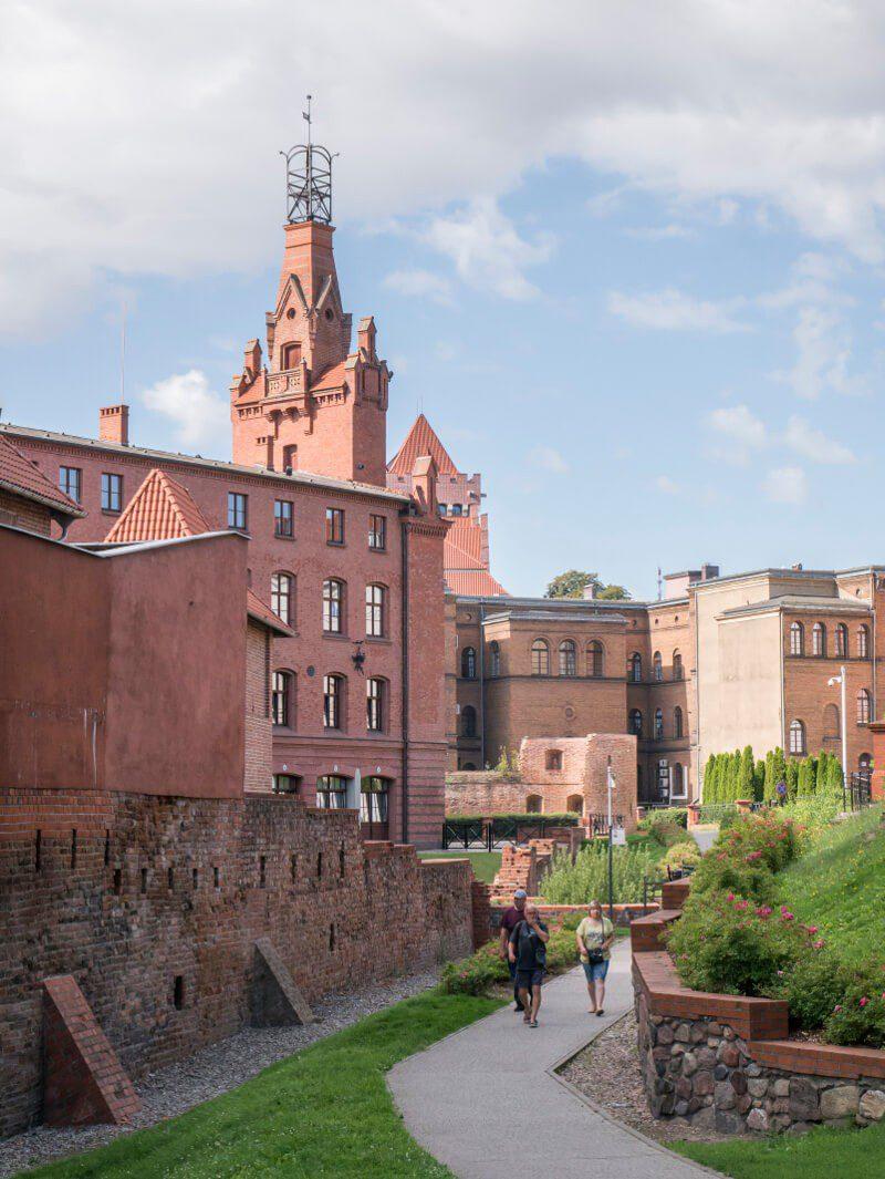 Pozostałości murów miejskich na Starym Mieście w Poznaniu