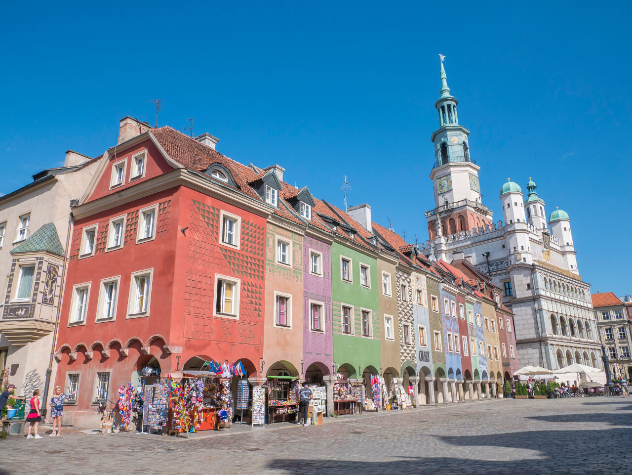 Ciąg kamienic budników i ratusz w Poznaniu (zwiedzanie Poznania)