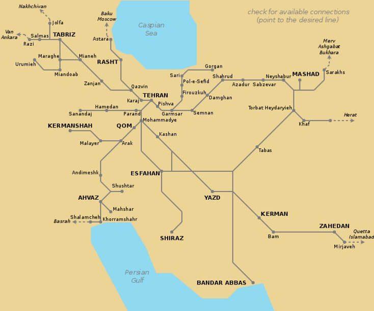 Sieć kolejowa Iranu