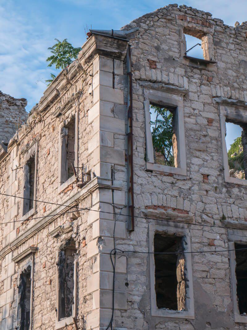 Ślady wojny w Mostarze