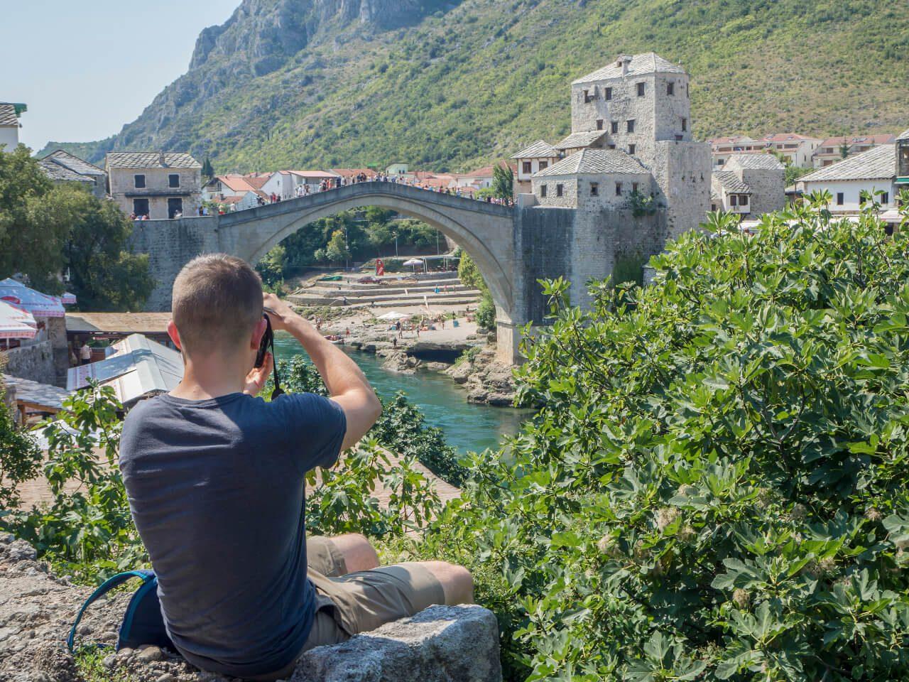 Stary Most w Mostarze i rzeka Neretwa, Mostar