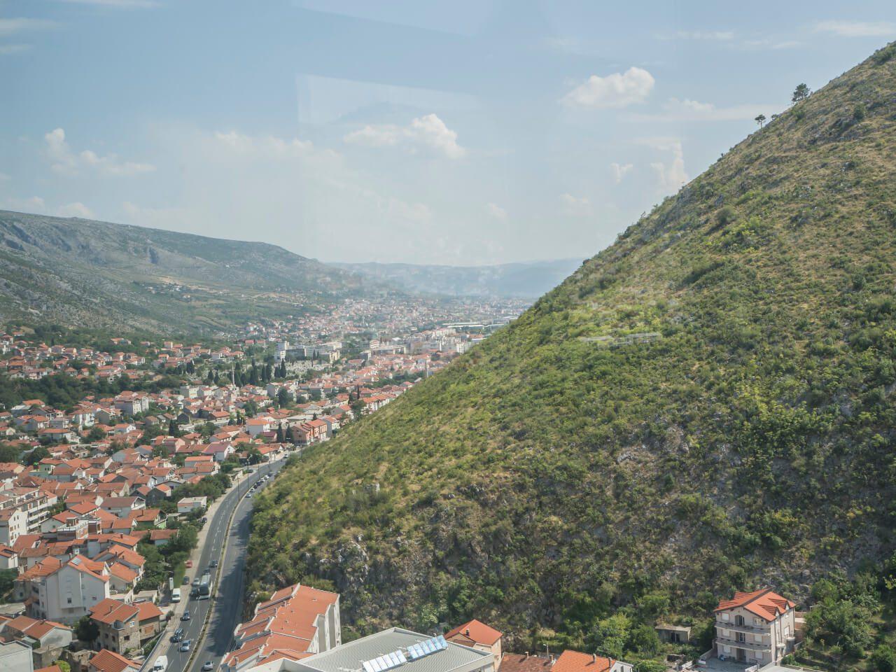 Widok z Wieży Pokoju w Mostarze