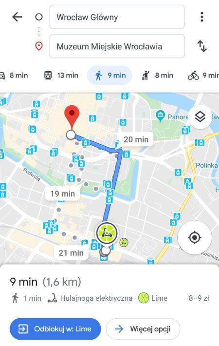 Aplikacje dla podróżników - screen z Google Maps #3