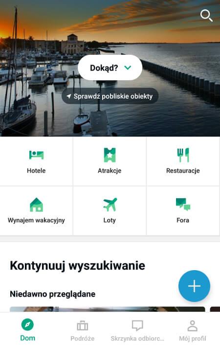 Aplikacje dla podróżników - screen z TripArvisor #3