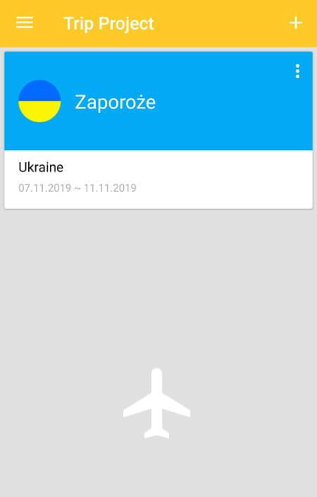 Aplikacje dla podróżników - screen z Handtrip #1
