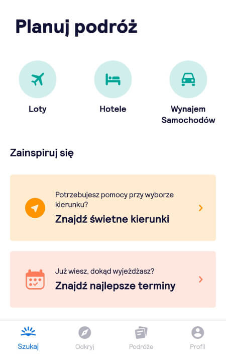 Screen z Skyscanner #2
