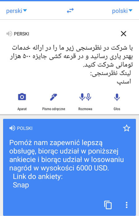 Screen z Google Translate #2