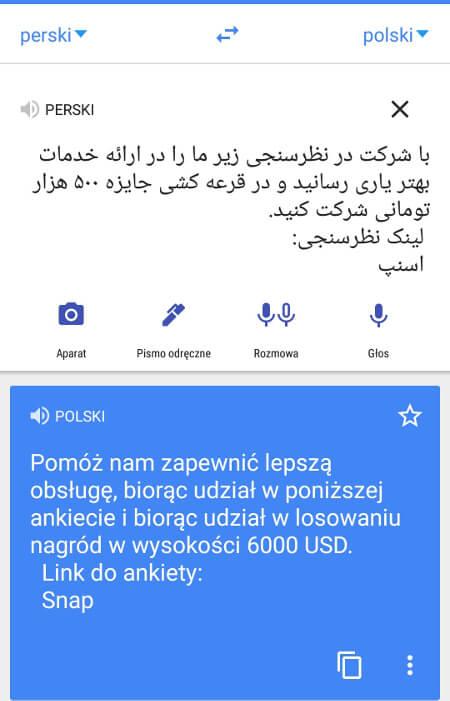 Screen z Google Translate #2