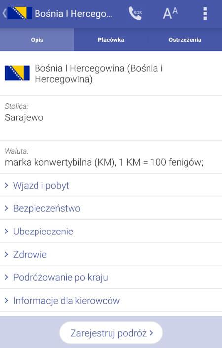 Aplikacje dla podróżników - screen z iPolak #1