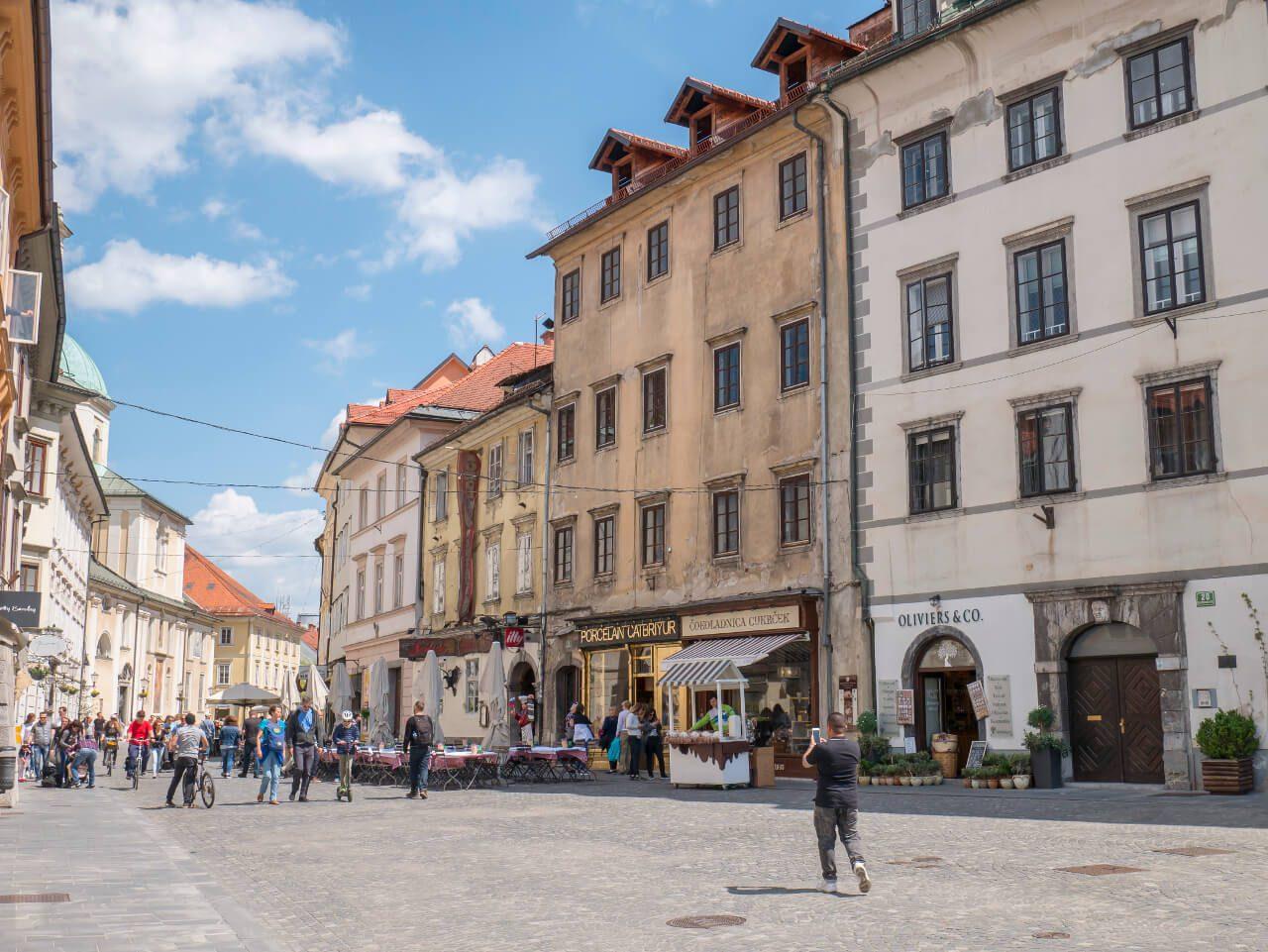 Co warto zobaczyć w Słowenii - Ulica Starego Miasta w Lublanie