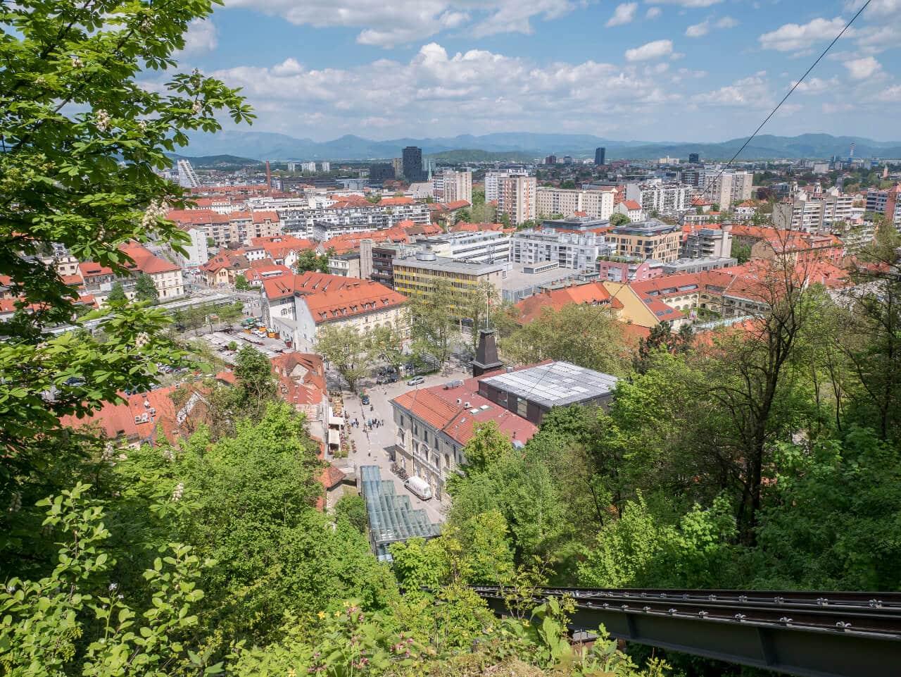 Co warto zobaczyć w Słowenii - Widok na Lublanę ze wzgórza zamkowego