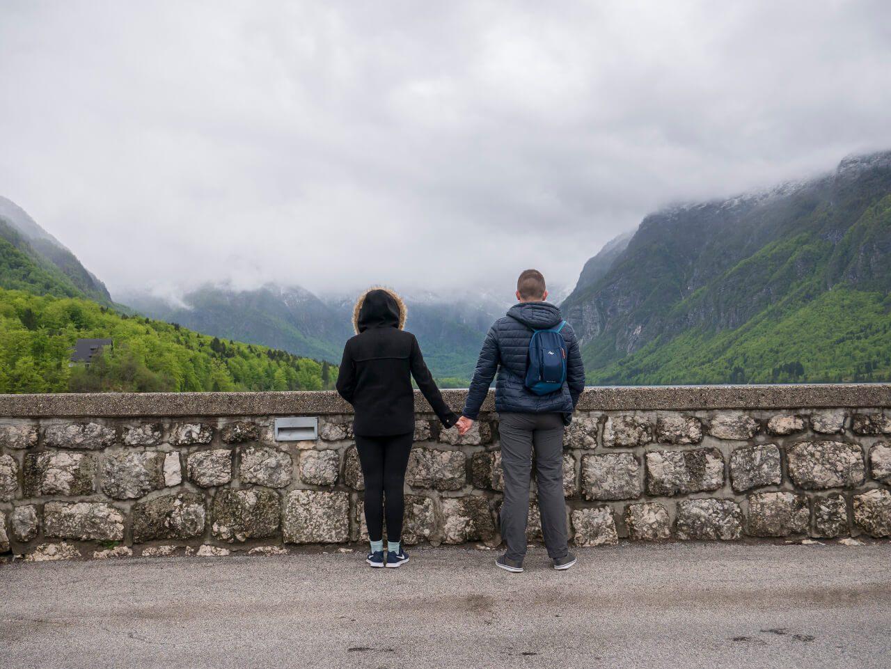 Bartek i Natalia nad jeziorem Bohinj