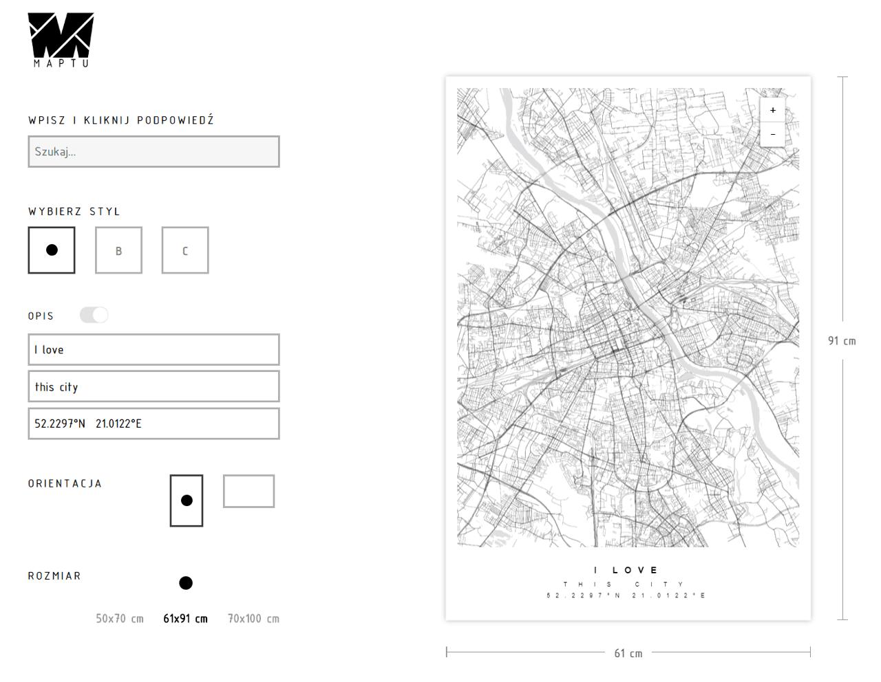 Screen ze strony Maptu.pl