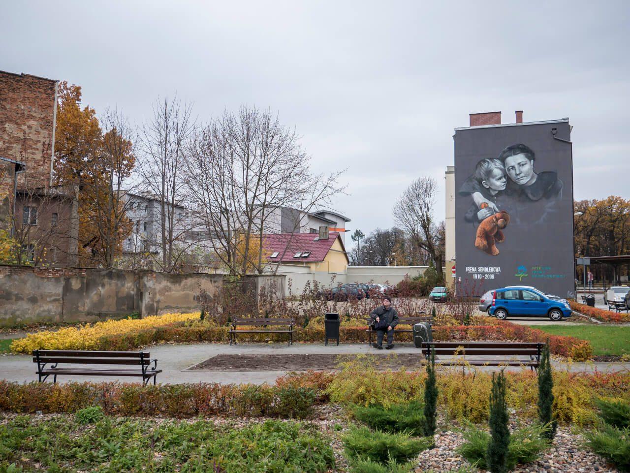 Mural z Ireną Sendlerową w Świdnicy