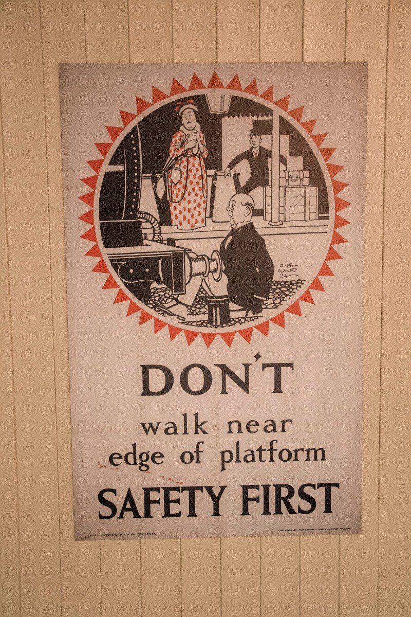 Plakat w muzeum kolejnictwa w York