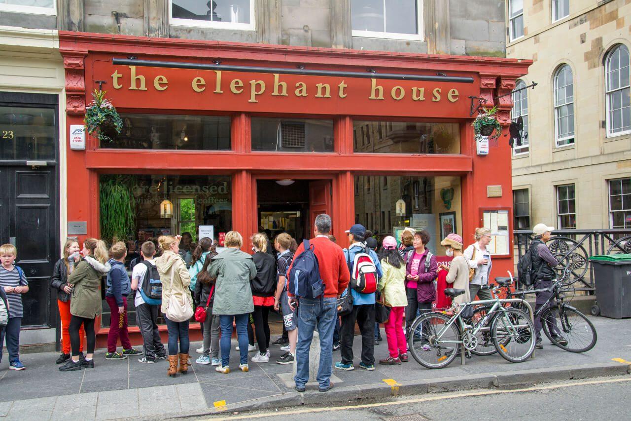 Kawiarnia The Elephant House w Edynburgu