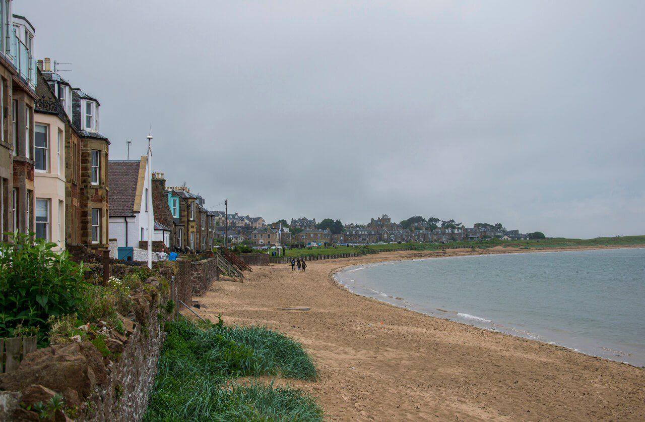 Domki przy plaży w North Berwick