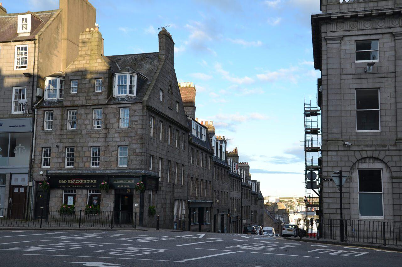 Widok na uliczki Aberdeen