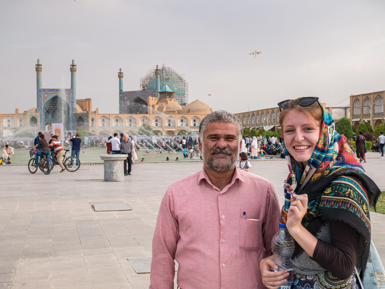 Natalia i Irańczykiem w Isfahanie