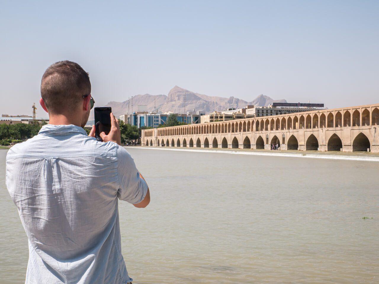 Most Si-o-se-pol  w Isfahanie